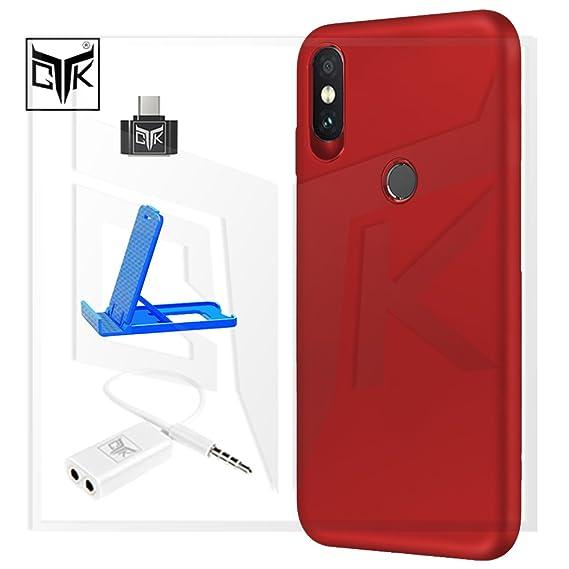 quality design cff9e 9d4be TheGiftKart Redmi Note 5 Pro Back Cover + OTG Adapter + Audio Splitter +  Mobile Stand - Combo