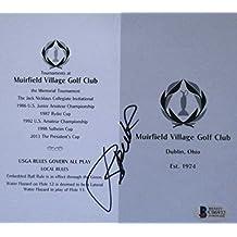 fan products of Jordan Spieth Signed Muirfield Village Golf Club Scorecard Beckett BAS Holo
