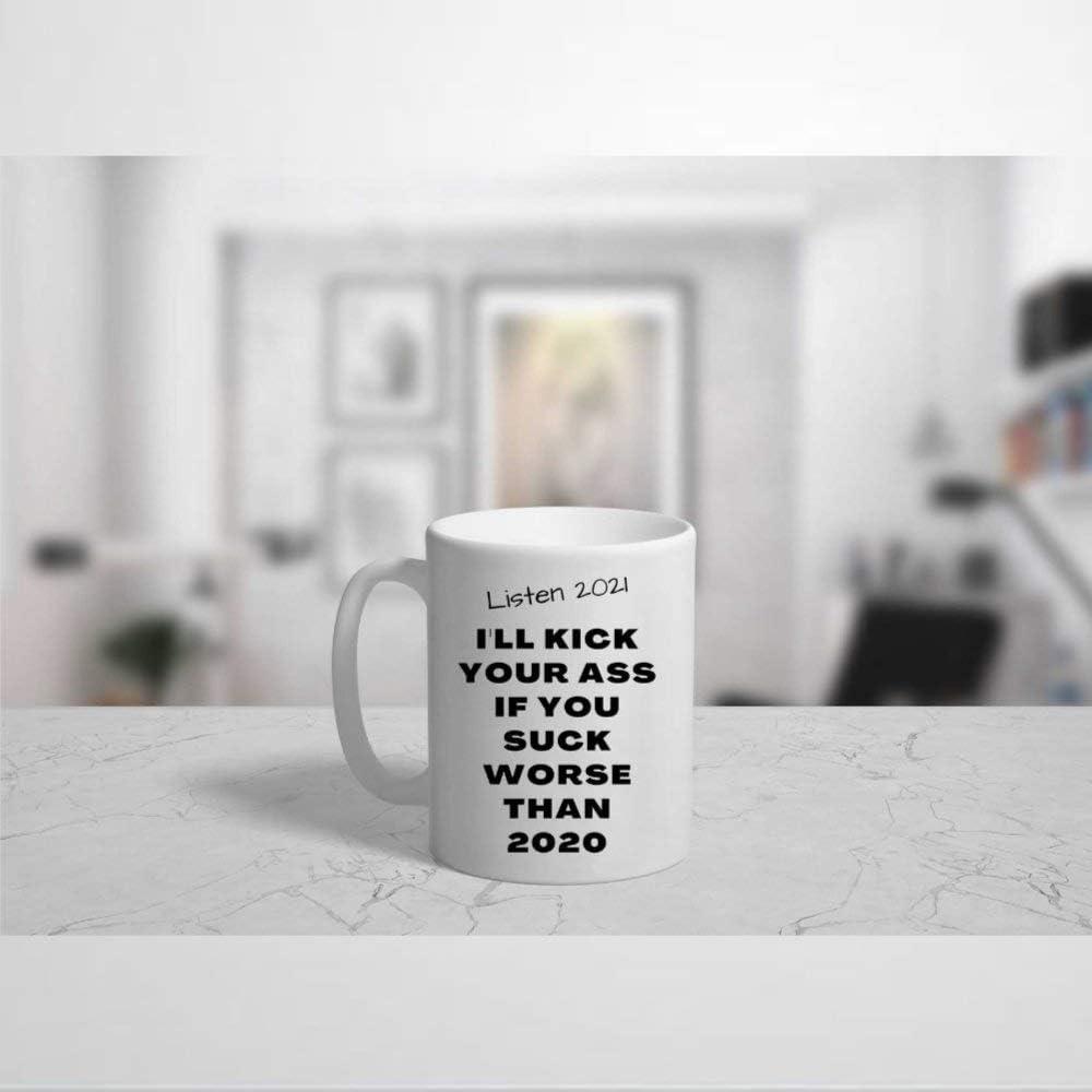 Taza de cerámica 2021 con texto en inglés
