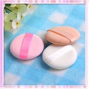 3pcs Round Facial Face Sponge Makeup Cosmetic Loose Powder Puff w/ Satin Ribbon B0240