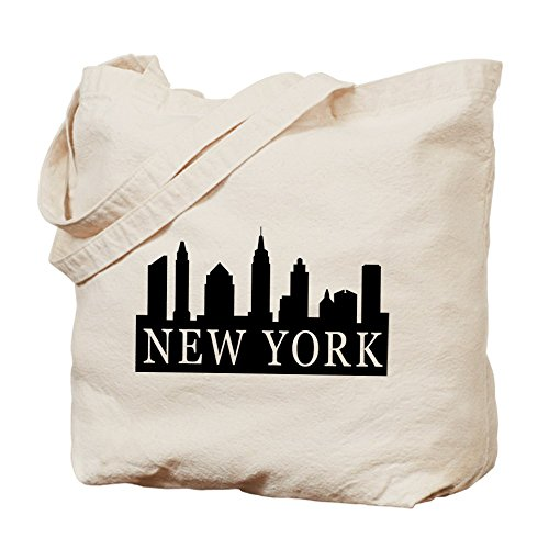 CafePress - New York Skyline - Natural Canvas Tote Bag, Cloth Shopping - Beach Shopping Long Downtown