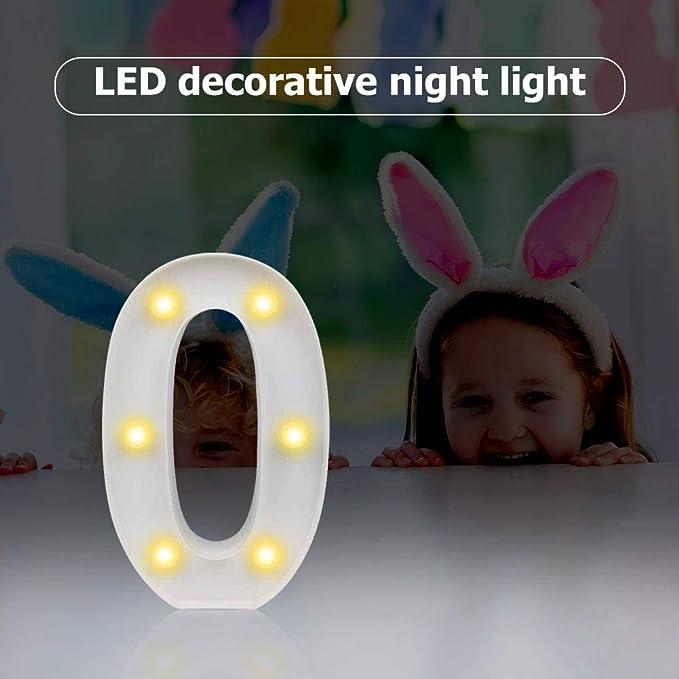 Broadroot Insegne Luminose Numero LED Light Casa Decorazioni Lampada da Notte per Compleanno Alimentate a Batteria
