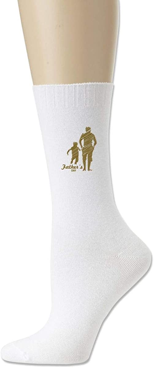 Women High Ankle Cotton Crew Socks Father/â/€s Day Casual Sport Stocking