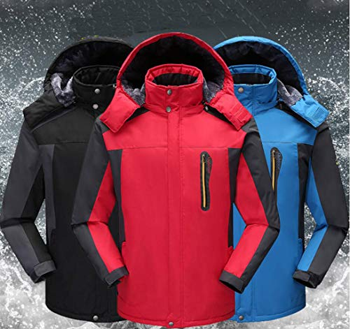 Cold Jacket Plus Cotton Blue And Jacket Warm Men's Clothing Velvet Mountaineering Waterproof vq1YwY