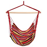 Cheap Dtemple Durable 265 lb Hanging Hammock Chair Colorful Hanging Swing Set for Indoor and Outdoor US STOCK (color stripes)
