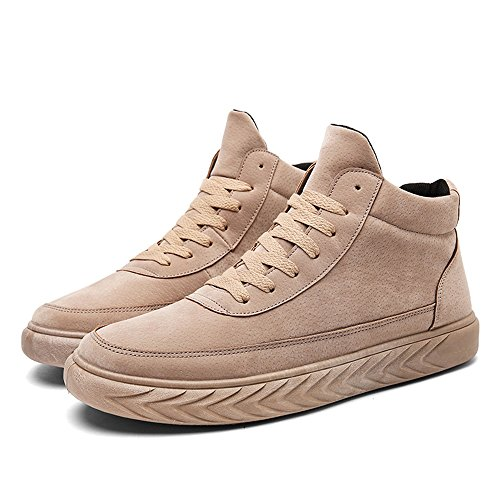 Men's Shoes Feifei Winter Fashion Leisure Non-Slip Sports Shoes 3 Colors (Color : Khaki, Size : EU39/UK6.5/CN40)