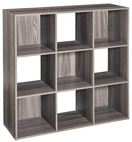 ClosetMaid 4167 Cubeicals Organizer, 9-Cube, Natural Gray]()