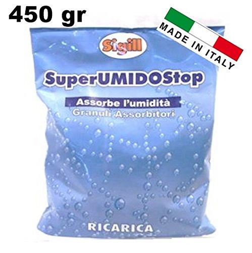 GRANULI ASSORBITORI RICARICA PER ASSORBI UMIDITA 450 gr  SIGILL  MADE IN ITALY