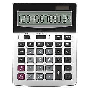 Calculator, Helect Business Standard Function Desktop Calculator - Silver