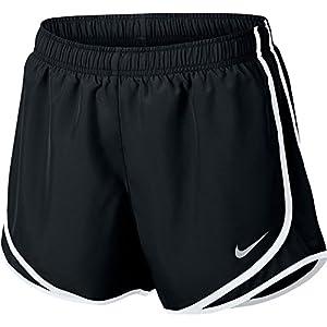 NIKE Women's Dry Tempo Running Short Black/White/Wolf Grey Size Medium