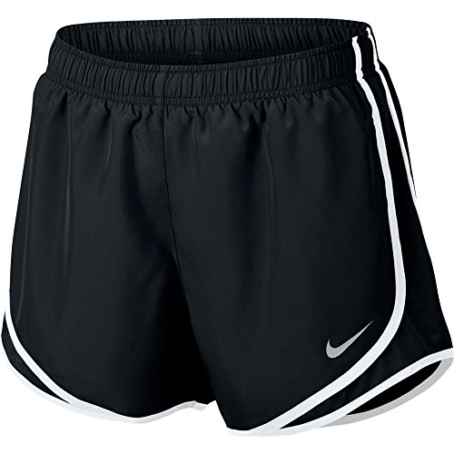 NIKE Women's Dry Tempo Running Short Black/White/Wolf Grey Size (Nike Sport Shorts)