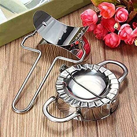 Stainless Steel Dumpling Mould Set for Kitchen Pastry Tool with Flour Ring Device Valigrate Dumpling Maker Mould