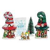 Department 56 North Pole Merry Lane Cottages Village Boxed Set Multicolor