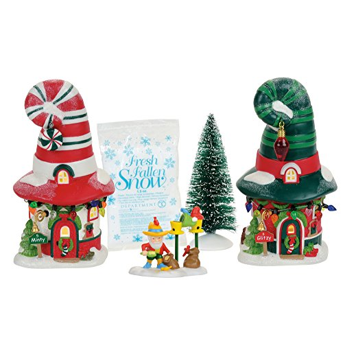 (Department 56 North Pole Merry Lane Cottages Village Boxed Set Multicolor)