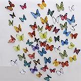 Jaamso Royals '3D Butterflies' Wall Sticker (PVC, 48 cm x 5.1 cm x 5.1 cm)