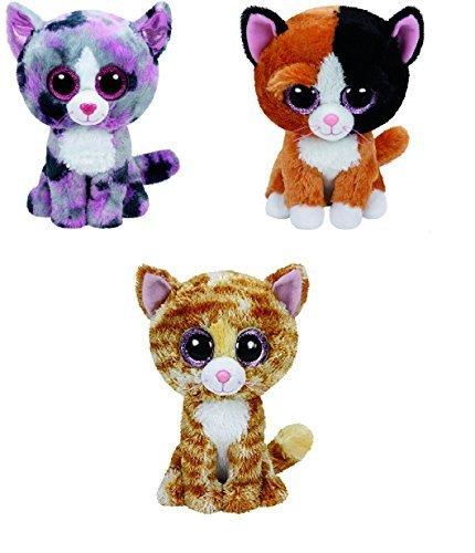 Ty Lindi Tauri And Tabitha Cats Set Of 3 Beanie Boos Stuffed Animal Plush Toy