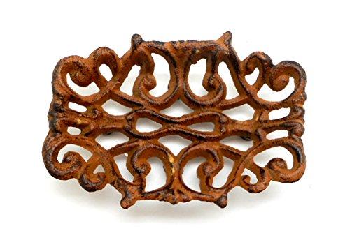 Cast Iron Filigree - Cast Iron Victorian Filigree Soap Dish ~ Rustic Brown