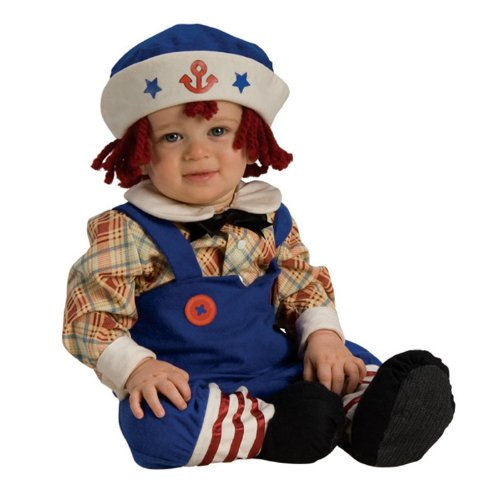 [Ragamuffin Sailor Costume - Yarn Hair (6-12 months with Bracelet for Mom)] (Ragamuffin Costume)