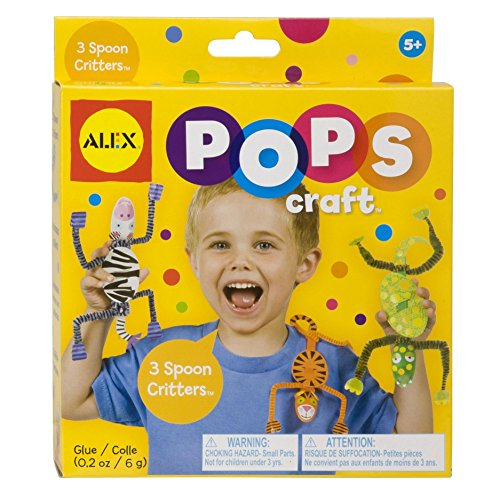 ALEX Toys POPS Craft 3 Spoon Critters (Alex Projects For Kids)
