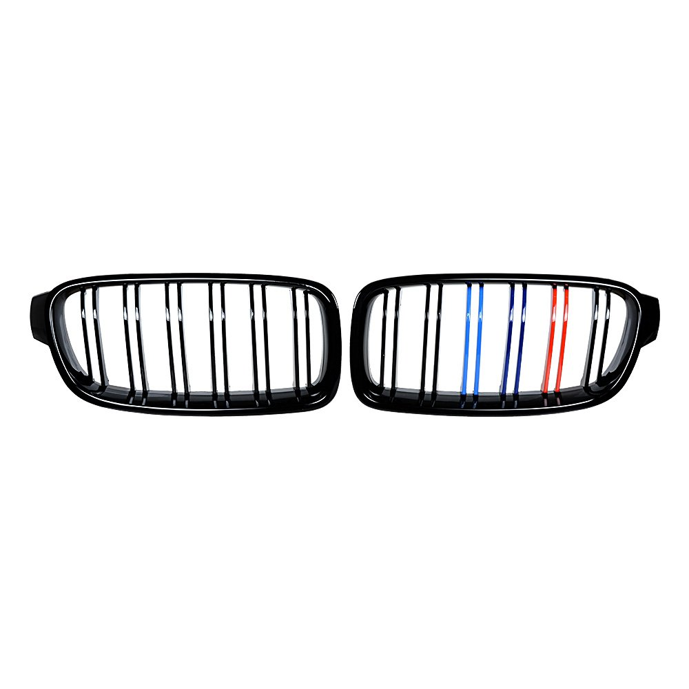 Glossy Black Front Kidney Grille Grill For 2012-2018 BMW F30 320i 328i 335i 4-Door