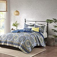 Madison Park Tangiers Coverlet&Bedspread, Full/Queen, Blue