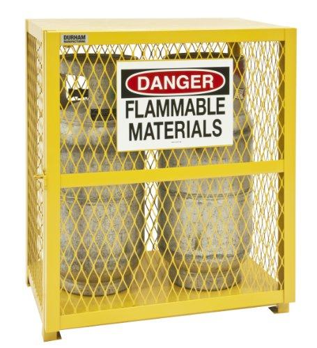 (Durham Steel/Iron Vertical Cylinder Storage Cabinet, EGCVC2-50,  2 Cylinder Capacity,  20
