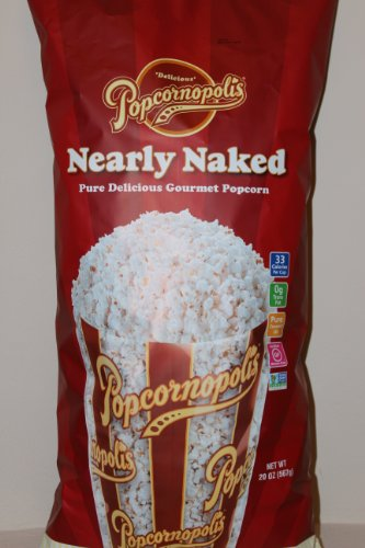 Popcornopolis Organic Pop Corn Nearly Naked 20 Oz Bag Made in USA