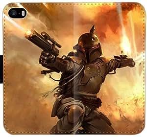 Boba Fett Battlefront U7L6U Funda iPhone 6 6S 4,7 cuero caja de la carpeta del teléfono celular Funda 3Xs54R Tough Fundas caso del tirón