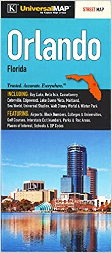 Map Of Orlando Florida.Orlando Fl Street Map Universal Map 9780762585045 Amazon Com Books