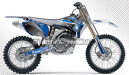 (Kungfu Graphics Custom Decal Kit for Yamaha YZ250F YZ450F YZF250 YZF450 2008 2009, Blue Black )