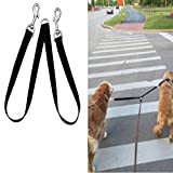 Double Dog Leash - Fusion Pet Supplies - No Tangle Double Dog Leash Coupler - Double Dog Walker Splitter (Medium/Large)