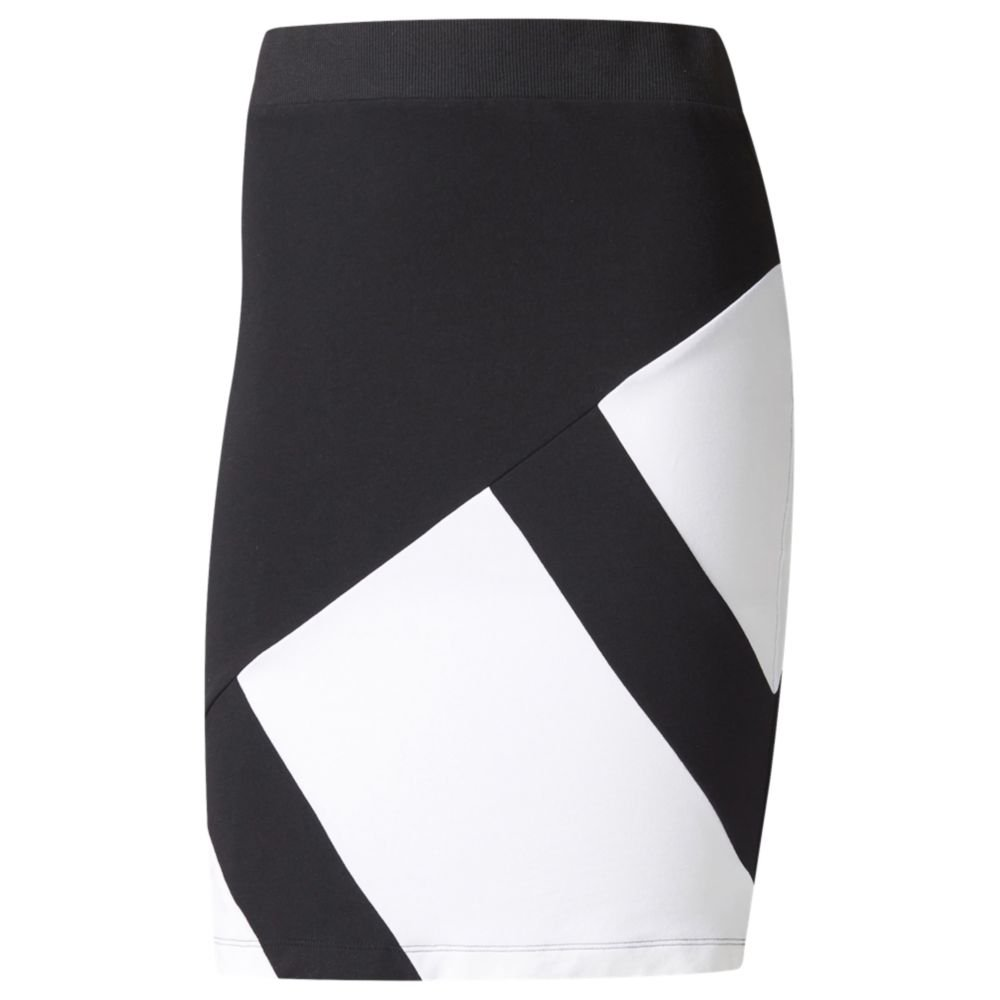 adidas Originals Women's Bottoms EQT Skirt, Black/White, Small