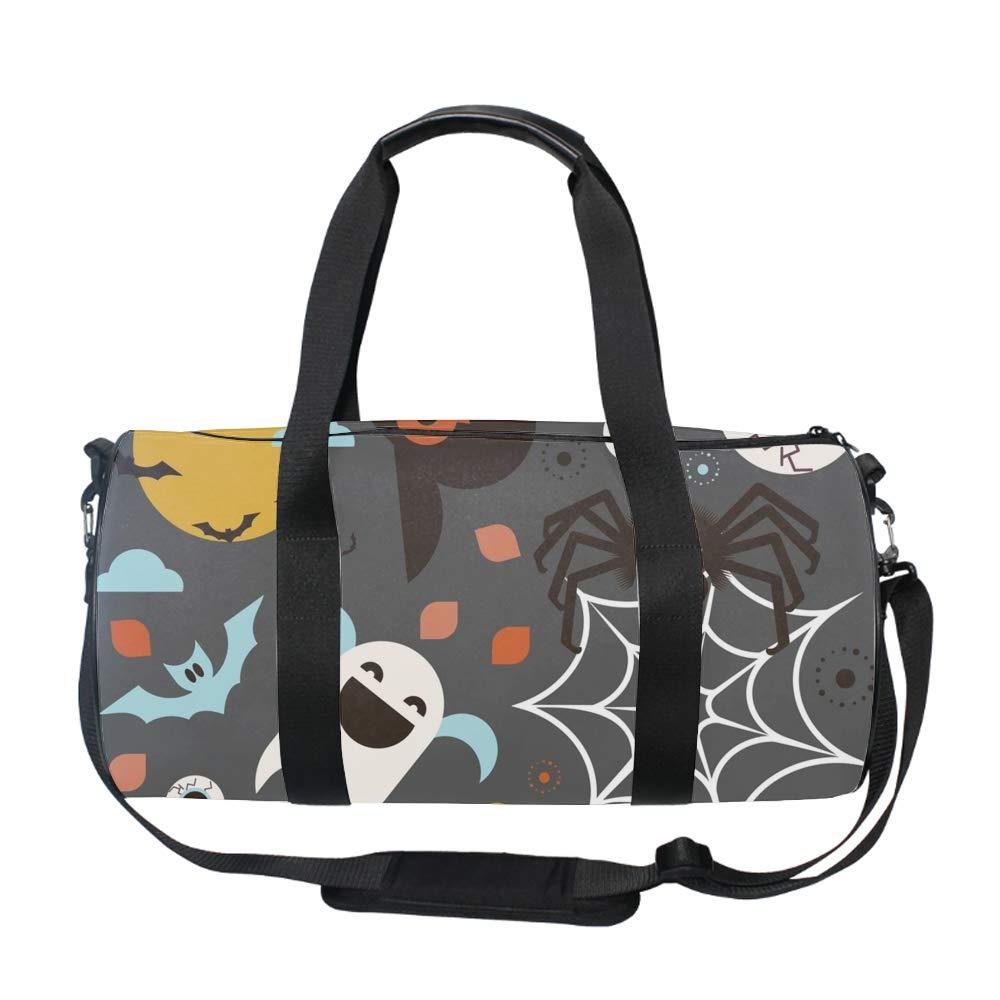 Halloween theme5 Water Resistant Gym Sports Dance Travel Weekender Duffel Bag Pumpkins On Argyle