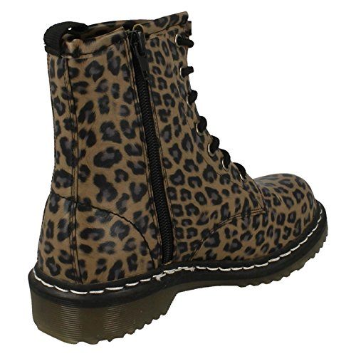 Spot On ,  Mädchen Durchgängies Plateau Sandalen mit Keilabsatz Leopard