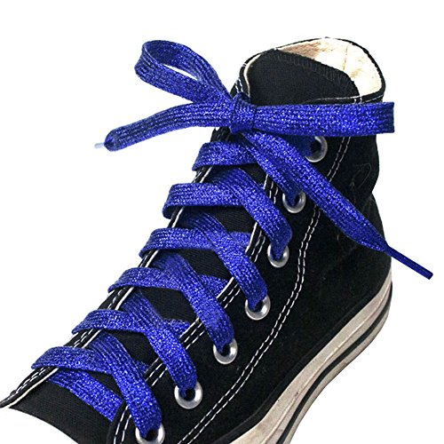 George Jimmy Shoelaces for Sneakers&Casual Shoelaces Different Shoe String#Blue