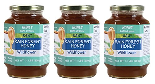 Novo Mel Organic Rainforest Honey 3 Bottle (Wildflower) - Wild Forest Honey