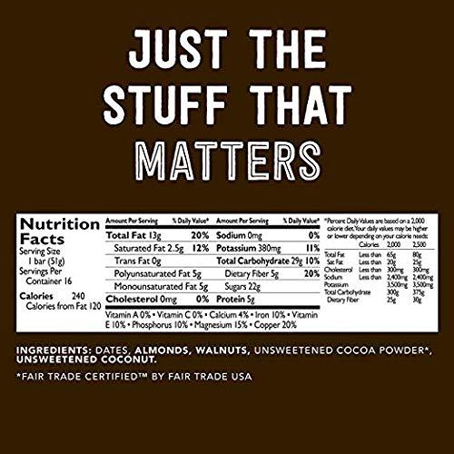 Larabar Gluten Free Bar, Chocolate Coconut Chew, 1.6 oz Bars (16 Count), Whole Food Gluten Free Bars, Dairy Free Snacks by LÄRABAR (Image #2)