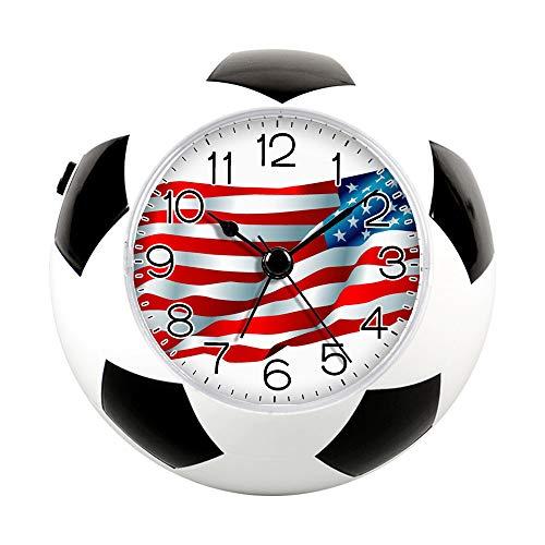 Printable Football Decorations (GIRLSIGHT2 Alarm Clock for Decoration, Football Soccer Clock&Fun Silent Quartz Analog Non-Ticking Bedside Alarm Clock-113.Download Free Printable)