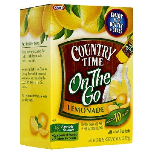 Country Time On The Go Lemonade Packets - 3 Boxes of 10 Packets Each