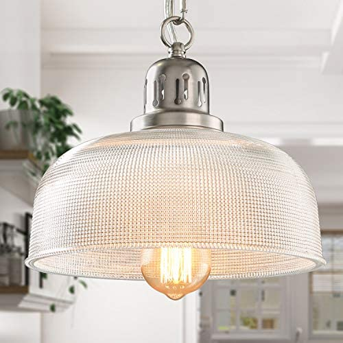 LALUZ Pendant Lighting for Kitchen Island, Modern Indoor Glass Barn Light, for Dining Room, Hallway, A03246