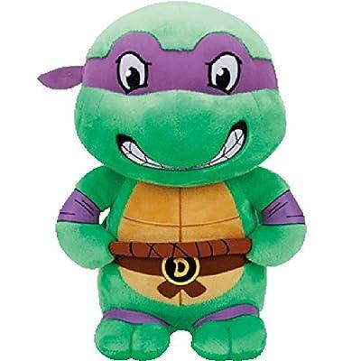 """T&Y TY Donatello Teenage Mutant Ninja Turtles Purple Mask Medium 13"""": Toys & Games"""