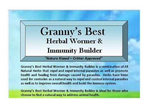 Granny's Best Herbal Wormer & Immunity Builder A Natural Way to Build Animal Health with a Handcrafted Proprietary Blend of Herbs that Repel and Expel Internal Parasites and Build the Immune System 8 oz