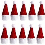 Skaw Doly Christmas Santa Claus Mini Red Hat Wine Bottle Cover Topper Decor