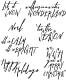 Tim Holtz Cling Rubber Stamp Set, Handwritten Holidays, 7 by 8.5-Inch