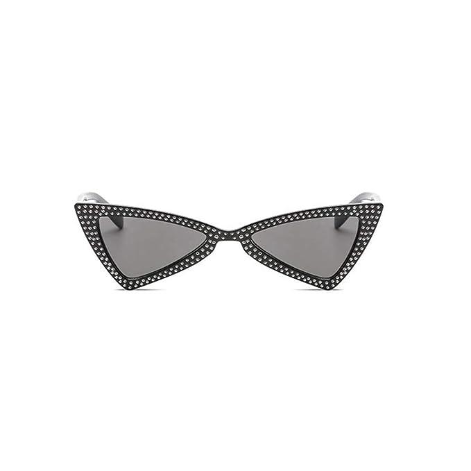Amazon.com: YaMiFan - Gafas de sol triangulares pequeñas ...