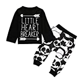 Kids Cute Sets Clothes, For 0-2 Years Old Kids,Princer Autumn Newborn Infant Boys Pattern arrows Tops +Pants Outfits (18-24 Months, Black)