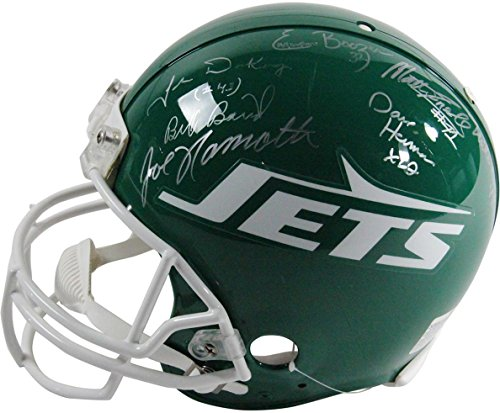 Steiner Sports NFL New York Jets 1969 Team Signed Authentic 78-89 Throwback ()