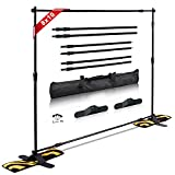 T-Sign 10'x8' Professional Step and Repeat Backdrop Banner Stand Large Tube Heavy Duty Telescopic for Trade Show and Photo Booth Background with Carrying Case and Sand Bags for Free