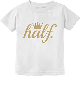 Half Birthday Outfit For Baby 1 2 Gift Golden Crown Infant Kids T