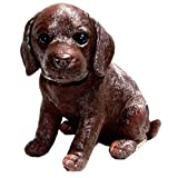 Michael Carr Designs 80101 Fudge Labrador Puppy Statue, Small, Chocolate